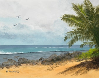 Hawaii 102 Giclee canvas from original acrylic painting