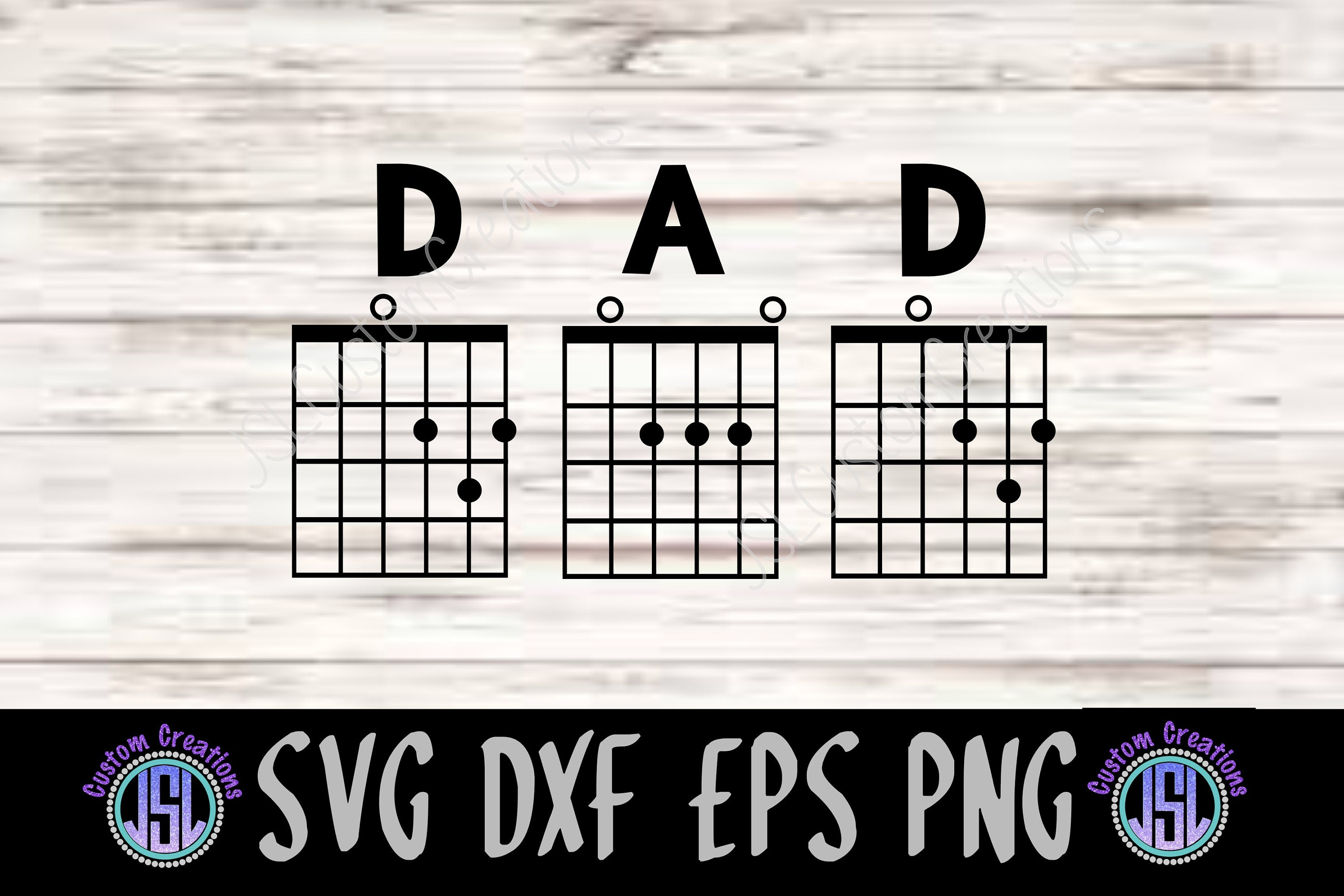 Dad Guitar Chords Svg Eps Dxf Png Cut File For Silhouette Etsy