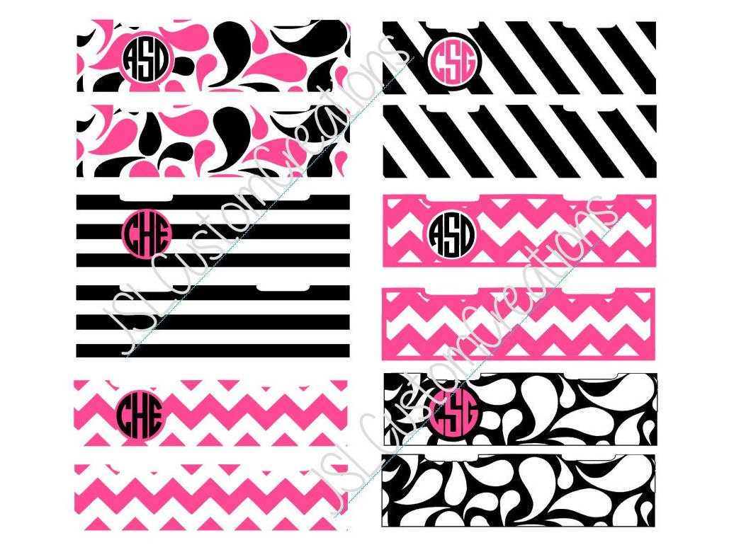 iPhone Airpod Case Monogram Wraps SVG eps DXF png for   Etsy