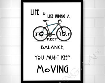 Keep moving Albert Einstein Life Quote Instant download Home decor Digital download wall art print Einstein quote