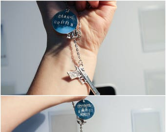 Clarke Griffin/Destroyer of Worlds - The 100 Charm Necklace - DOUBLE SIDED