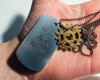 No One Fights For Me - The 100 Lexa Dog Tag Necklace