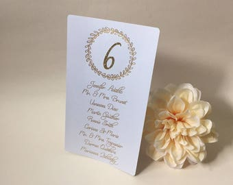 Wedding Seating Chart Cards, WeddingSeating Chart,  Custom Seating Chart Cards, Personalized Seating Chart Cards, Gold, Rose Gold, Silver