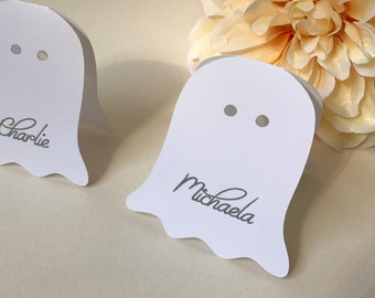 Halloween Place Cards, Ghost Place Cards, Halloween Party, Halloween Decor, Halloween Decoration, Personalized Place Cards, Custom Halloween