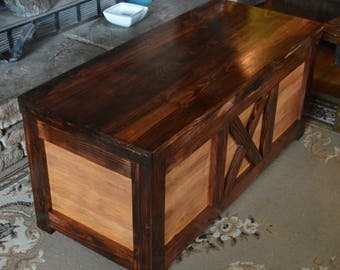 Large Hope Chest, Cedar Hope Chest, Blanket Chest. Rustic Chest