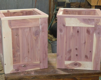 A pair of cedar planters, flower planters, planters, Mother's Day Gift
