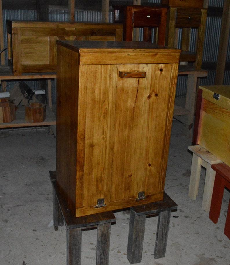 Wood Trash Bin Cabinet Tilt Out Trash Bin | Etsy