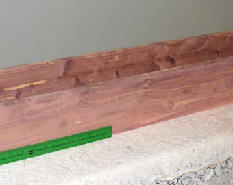 Cedar Box, Cedar Flower Box, Cedar Planter Box, Herb Planter Box, Herb Garden Box