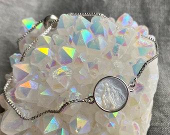 Silver Mother Mary Bracelet