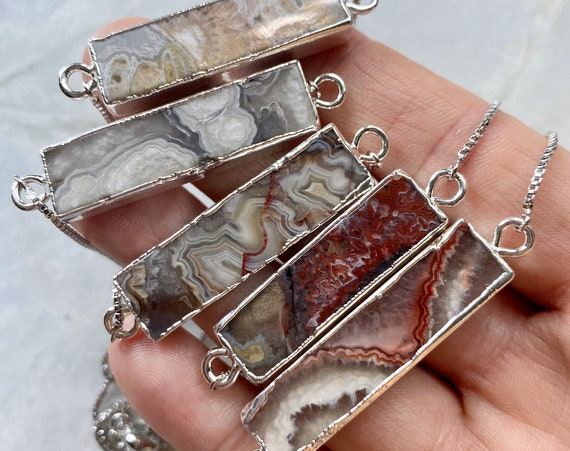 SIlver Mexican Agate Bracelet