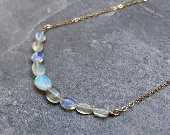 Opal Gemstone 14K Gold Filled Necklace
