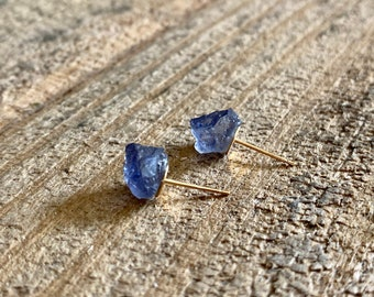 Raw Gemstone Earrings