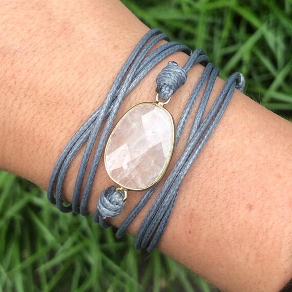 Moonstone Crystal Wrap Boho Bracelet