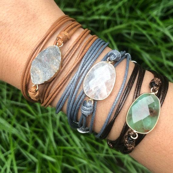 Crystal Boho Wrap Bracelet