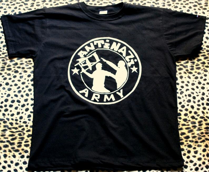 1a424c899e4805 Antynazistowskich koszulka Koszulka Hardcore punk rock t image 0 ...