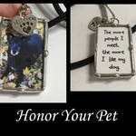 Personalized Photo Key Fob, Soldered Glass Charm Necklace, Pet Memorial, Picture Charm, Dog Pendant, Accessories, Artisan Made, Customized