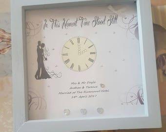 Mr & Mme cadre de mariage personnalisé