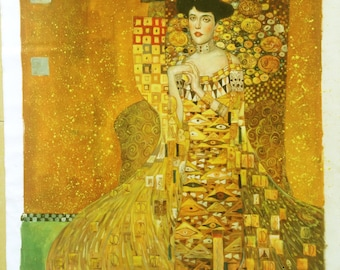 Portrait of Adele Bloch-Bauer I -Gustav Klimt Oil Painting Reproduction in Museum Quality