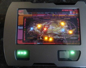 Star Trek Large Voyager Navigation PADD Prop replica working lights & sounds HERO REPLICA (Ships 2-3 weeks now)
