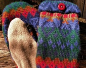 Handcrafted Patterned Sweater Mittens