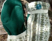 Handcrafted Olive Patterned Wool Mittens