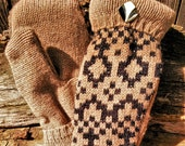 Handmade Brown Sweater Mittens