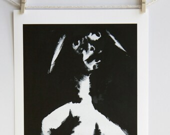 Open edition Giclée art print, signed by artist: Untitled Ink #2, 1999