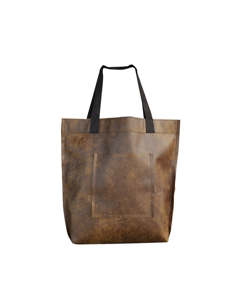 80adaa2bf Brown Leather Tote Bag Brown Leather Bag Large Brown Tote | Etsy
