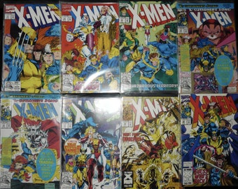 X Men Issues 11-19 With Trading Cards