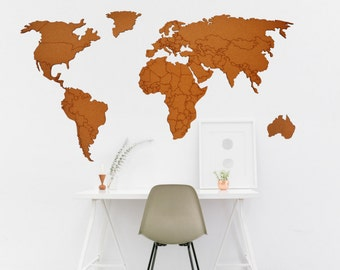 Wandtattoo Weltkarte Etsy