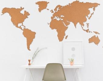 World Map - Magna (Frameless Wall | Self-adhesive)