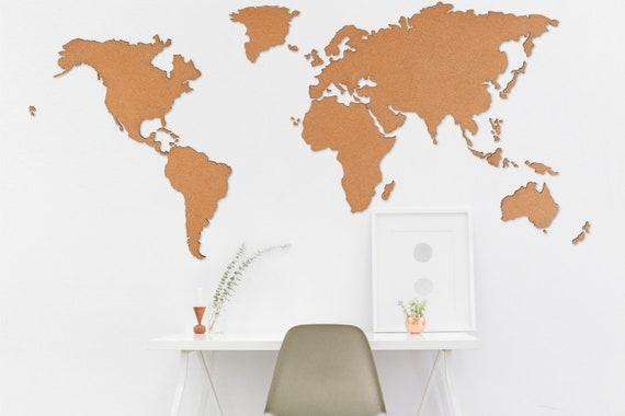 World map-magna (Frameless Bulletin Board | self-adhesive)
