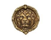 Door Knocker Brass Lion s Head 4 AB_106