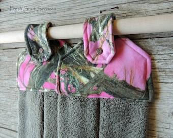 Pink Camo Hanging Towel - Pink Camo Kitchen Decor - Kitchen Towel - Camo Decor - Gifts for Her - Camo Kitchen Towel - Gifts for Wife
