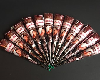Golecha Natural Brown Henna Paste Cones Temporary Tattoo Body Art Mehandi Ink CHOOSE QUANTITY !!