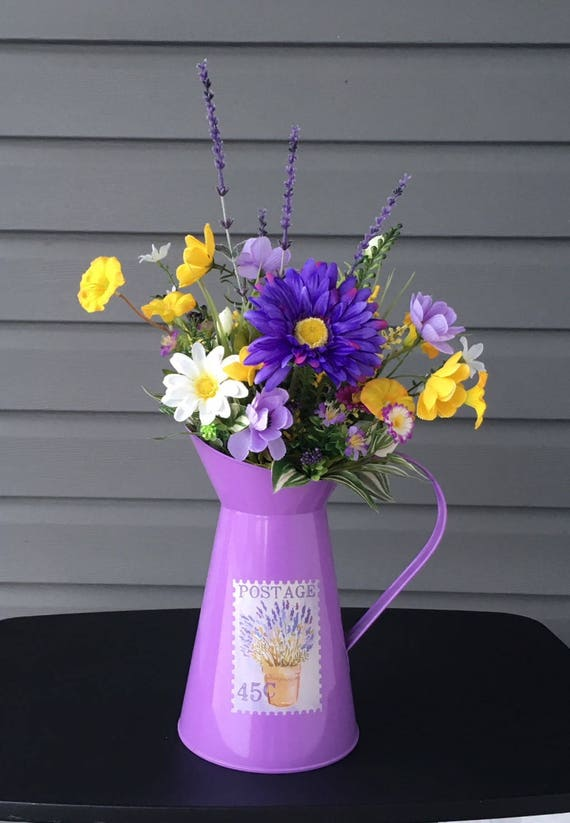 Spring flower arrangement spring floral arrangement watering etsy image 0 mightylinksfo