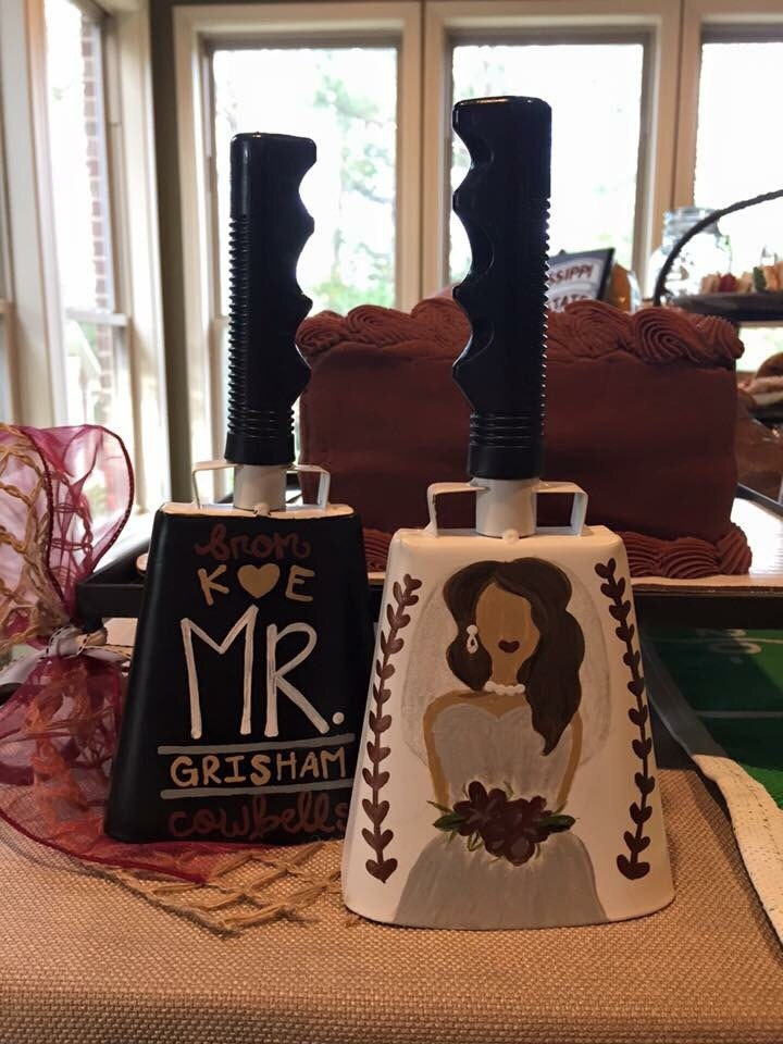 From Cowbells To Wedding Bellshisher Msu Wedding Cowbell Etsy
