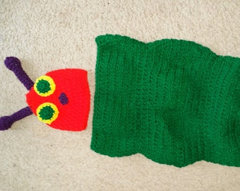 Caterpillar Crochet Baby Bunting Costume
