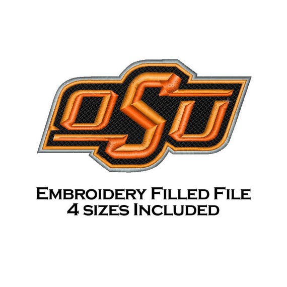 Embroidery Filled Design 4 Sizes OSU