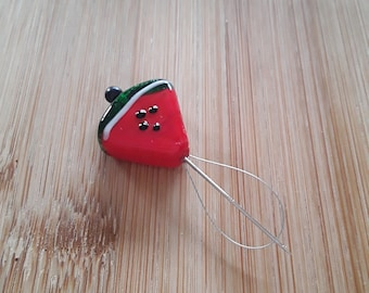 Glass Watermelon Needle Threader/Counting Pin