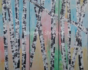 A forest of birches