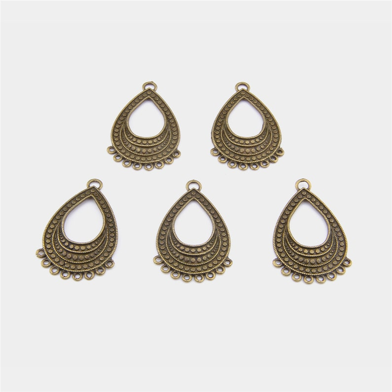 50pcs Antique Bronze Alloy Dream Word Charms Pendant Crafts Jewellery Findings