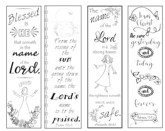 bible verse bookmarks on the name of the lord bw color your own print and cut
