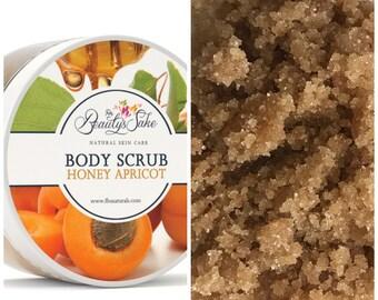 Honey Apricot Organic Body Scrub - 12 oz