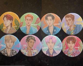 Exo kokobop buttons 2.25 inch