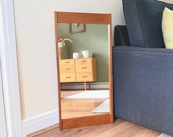 Vintage Danish Pedersen & Hansen Mirror, Mid Century Mirror, Hallway Mirror, Bathroom Mirror, Antique Mirror, Retro Mirror, Scandi Mirror