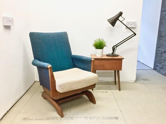 Mid Century Rocking Chair, Vintage Rocking Chair, Retro Rocking Chair,  Nursing Chair, Occasional Chair, Bedroom Chair, Nursery Chair