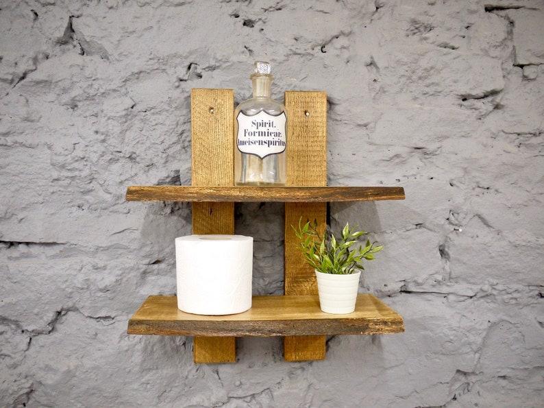 Reclaimed Wooden Shelf Display Unit, Vintage Bathroom Shelf, Rustic Wooden  Shelf, Beech Wood Reclaimed Wooden Flower Shelf, Kitchen Shelves