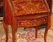 Best Inlaid Mahogany Satinwood RJ Horner Slantlid Writing Desk Indian ladies