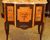 Superb Italian Made French Louis XV Inlaid Rosewood Night Stand Table SINGLE